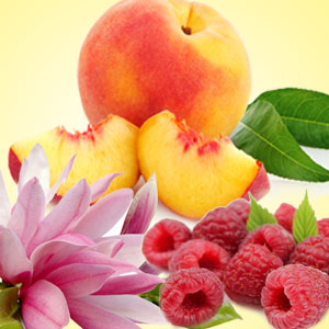 Raspberry Fragrance Oils: Peach Magnolia Raspberry Fragrance Oil