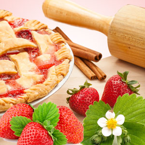 Strawberry Scented Cosmetics and Candles: Strawberry Rhubarb Pie Fragrance Oil