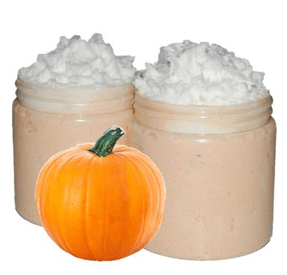 40 Homemade Sugar Scrub Recipes: Pumpkin Eggnog Foaming Sugar Scrub Recipe