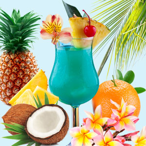 Mixed Drink Fragrance Oils for Summer Blue Hawaiian Fragrance Oil