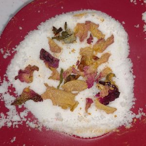 Foaming Rose Petal Bath Bombs Recipe Adding the Finishing Touches