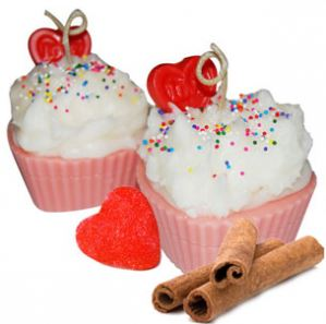 Crafts for Valentines Day: Valentines Day Cupcake Candle Recipe