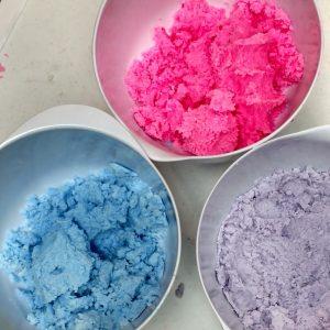 Galaxy Bubble Bar Recipe Coloring your Dough