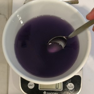 Blackberry Cupcake Soap Recipe Step 3: Add Fragrance Oil and Soap Colorant