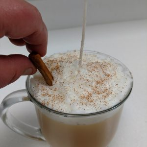 Eggnog Candle Recipe: Placing the Finishing Touches