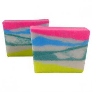 Rainbow Zebra Print Soap Recipe