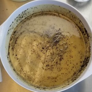 Coffee CP Soap Recipe: Mixing the Soap Batters
