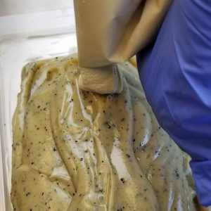 Coffee CP Soap Recipe: Decorating with the Remaining Batter
