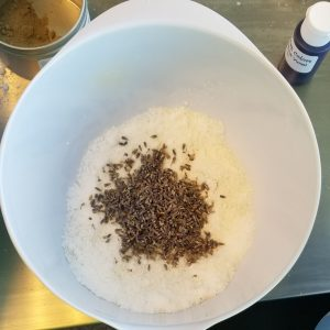 Lavender Bath Bomb Recipe: Adding the Lavender Flowers