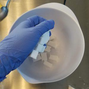 Cranberry Melt and Pour Soap Recipe: Prepare the Melt and Pour Soap