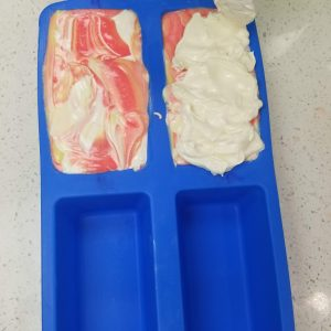 Topping the Soap with the White Soap Batter
