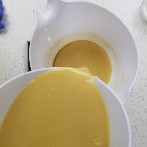 Divide the Gin Martini Cold Process Soap Batter