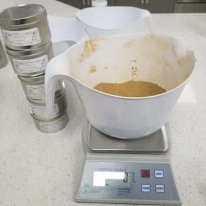 Weighing out and Mixing the Powders