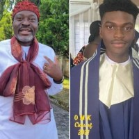 Kanayo.O. Kanayo Celebrates His Son As He Graduates From College