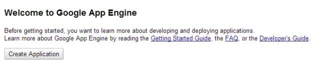 appengine create application