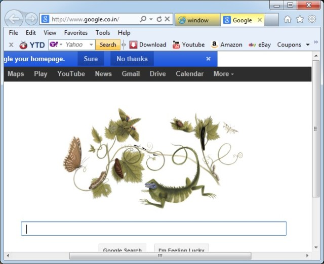 google on new window open
