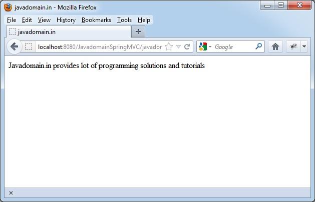 Javadomain output