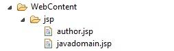 author.jsp and javadomain.jsp