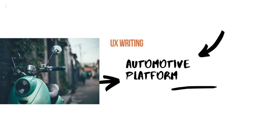 ux writing for the app and website