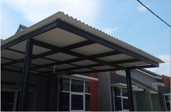 harga atap baja ringan di indramayu kanopi rangka terbaru 2020