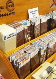 Chapel Cove Chocolate has a large variety of flavours and gift boxes. From a thank you box, perect or a host or a teacher to a Winter Fun box, stop by and pick out some amazing chocolate....but buy one for youself too because it's so tasty, your gift might not make it otherwise!