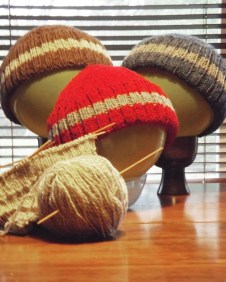 This is a line of hats created by Snippets just for men. A lovely handmade hat, that is both practical and stylish! Find ruth at the Market on December 17th.