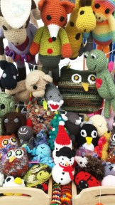 Handcrafted by Melissa has lots of beautiful blankets, mermaid tails and toys! Find her in teh dome every Saturday and December 7th too!