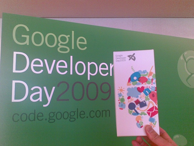 Google Developer Day 2009に行ってきた.