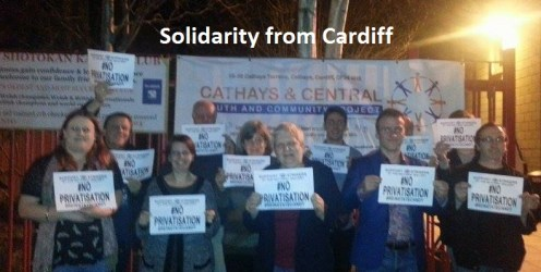 cardiff protest