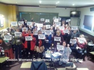 Unisonwomens SWP fring meetiting
