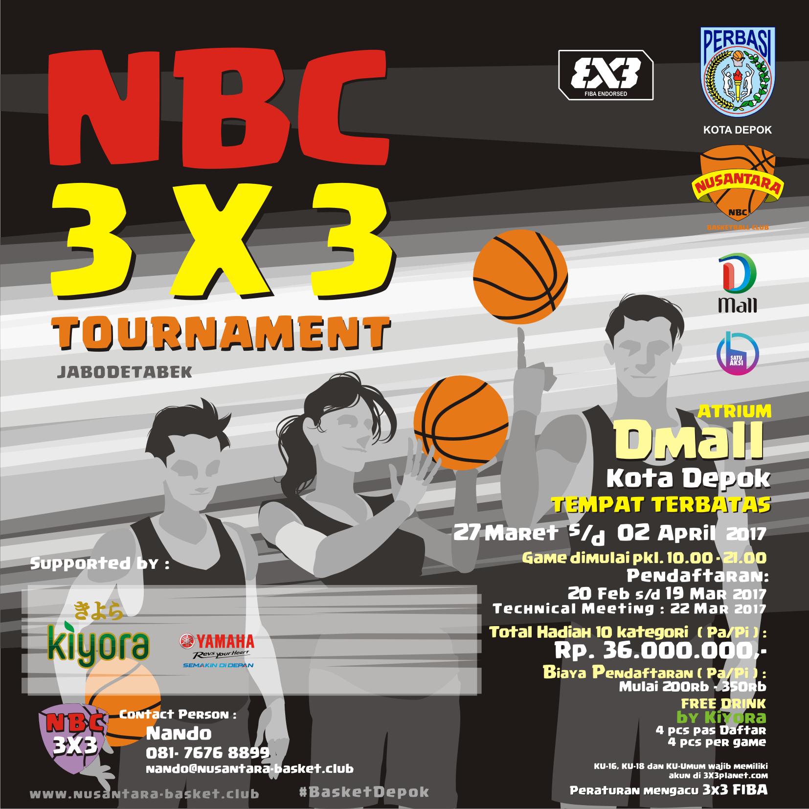 NBC 3×3 Tournament Siap Menggetarkan Kota Depok
