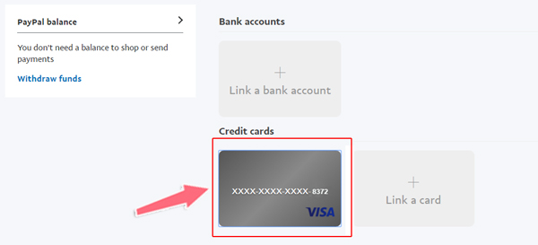 verify the visa ACB voi paypal