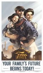 Bioshock Infinite: Finkton propaganda Poster by Benlo