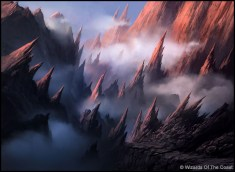 Andreas Rocha Magic: The Gathering Mountain Land Card