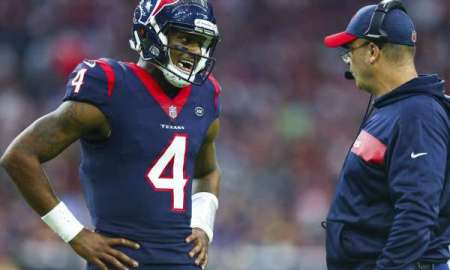 Texans QB Watson talking to HC O'Brien