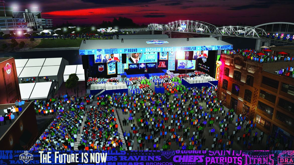 Nashville Tennessee: Music City will be NFL Draft City