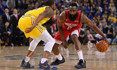 Rockets star man Harden takes on Iguodala