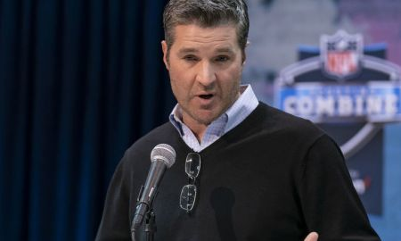Texans GM Gaine at the draft combine