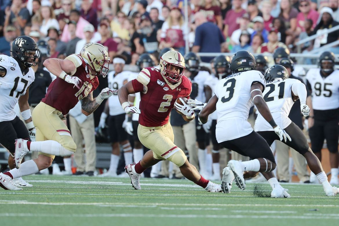 Wake Forest stays unbeaten with a 27-24 victory over Boston College