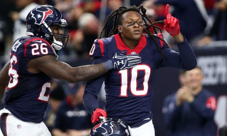 Texans wide out DeAndre Hopkins celebrating