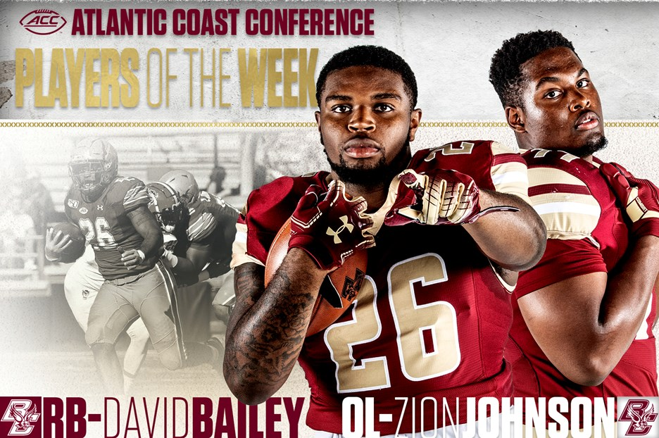 BC Football: Bailey, Johnson Named ACC Players of the Week