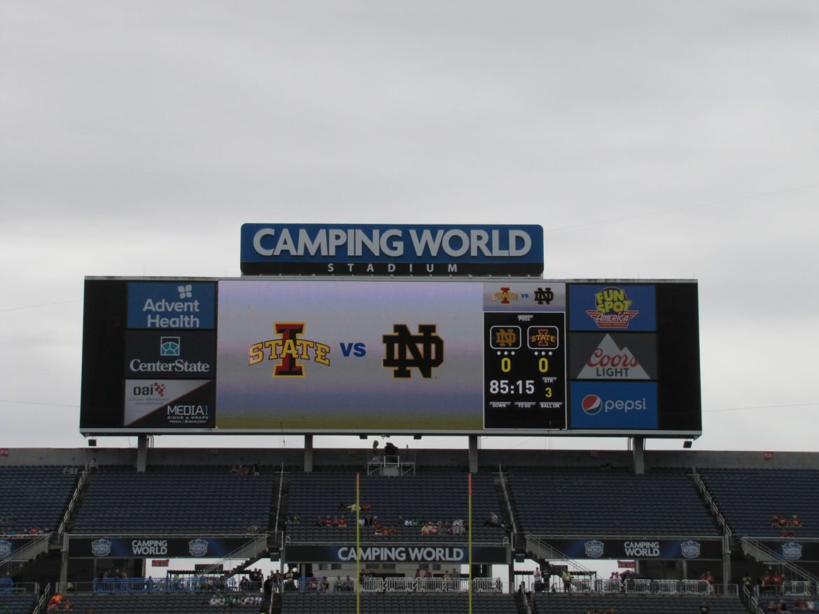 Notre Dame dominates 2019 Camping World Bowl 33-9