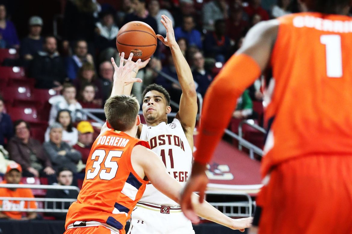 Syracuse gets 47 points from Hughes and Boeheim to beat Boston College