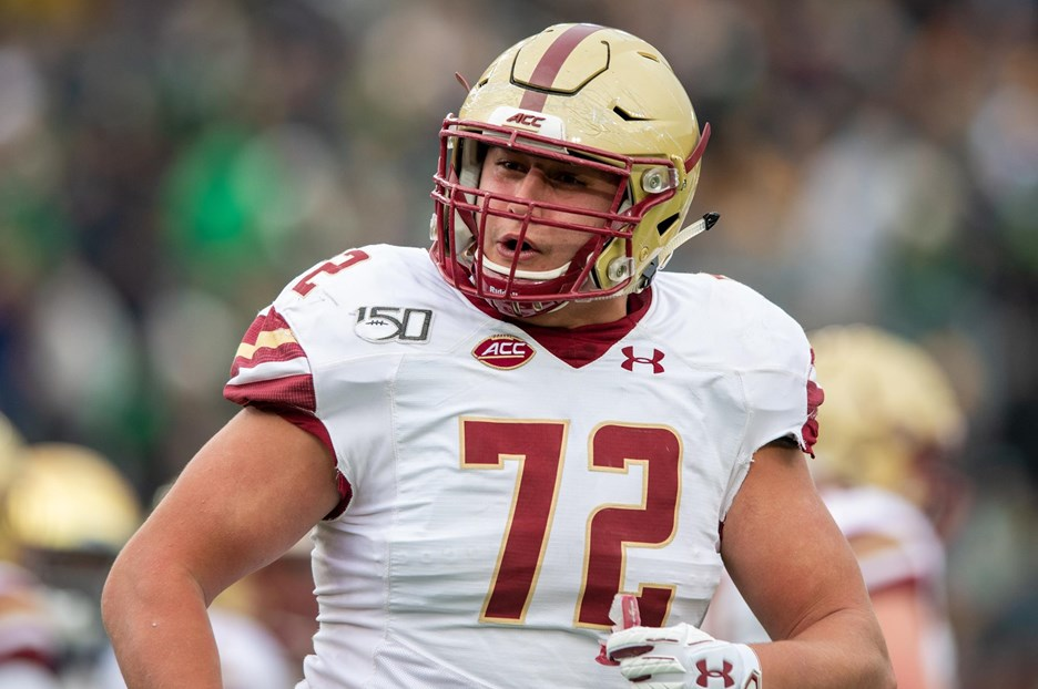 "Alec Lindstrom, Center, Boston College Football: ""What's Up My Dudes?"""