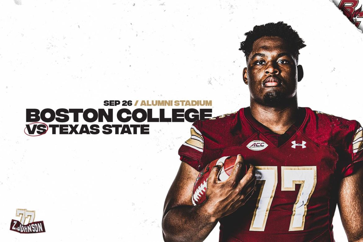 Boston College Finalizes 2020 Schedule. Set to host Texas State Sept. 26