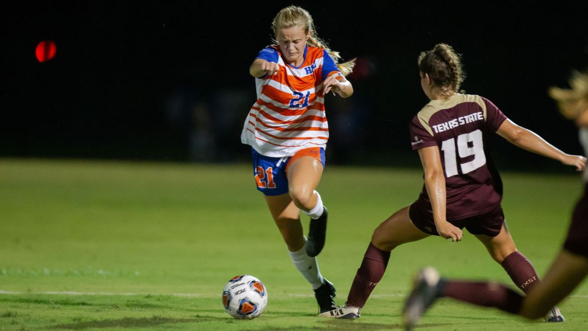 HBU Women's Soccer: Huskies and Bobcats Play to 1-1 Draw