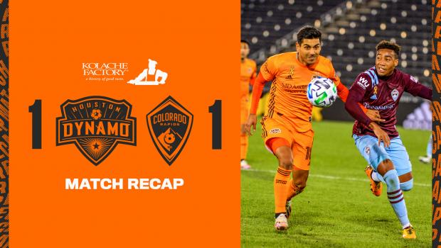 Houston Dynamo play to 1-1 draw with Rapids in Colorado