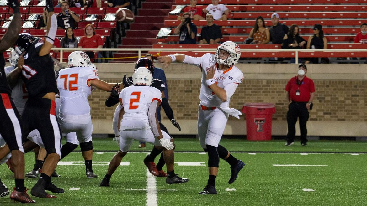 HBU Gives Texas Tech Scare as Zappe Throws for 567 Yards