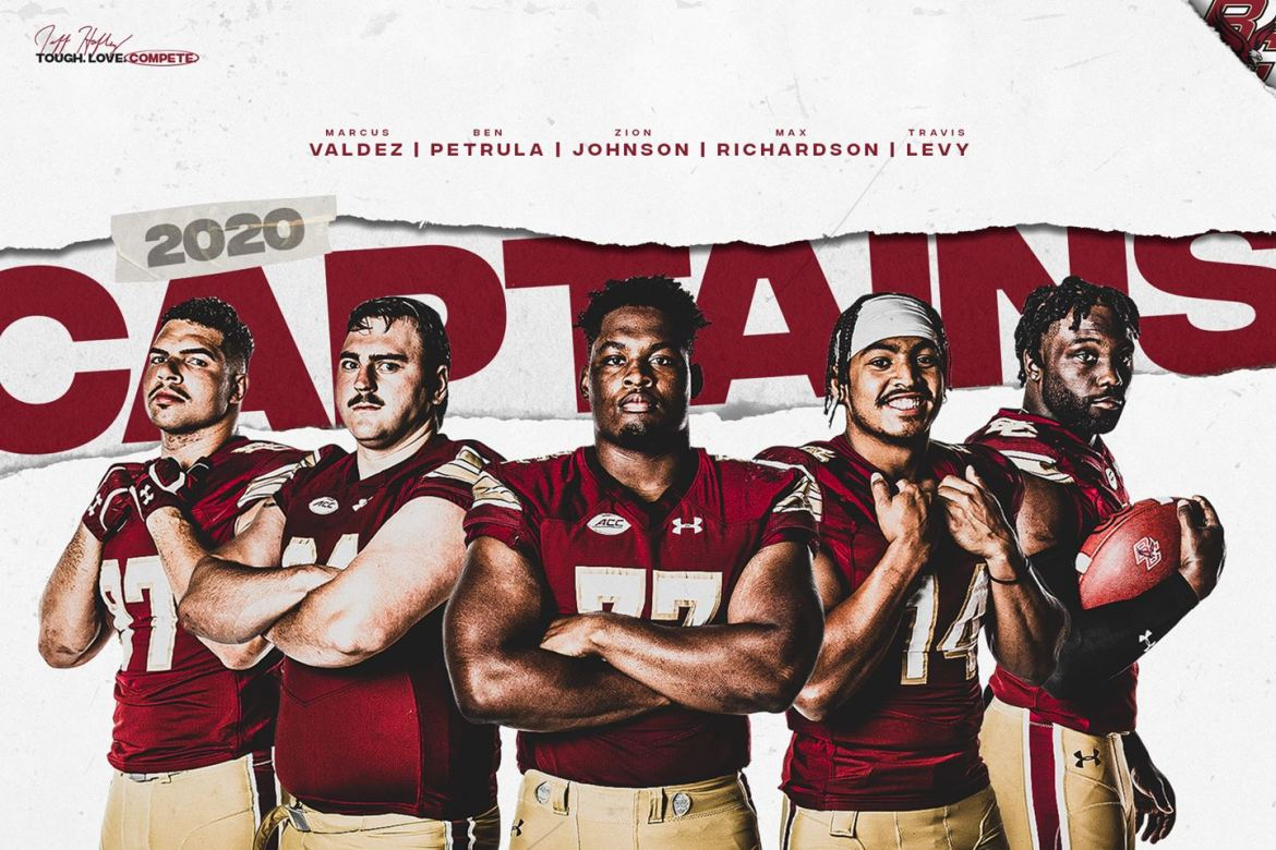 Boston College Names Football Captains. Five Captains are Selected.