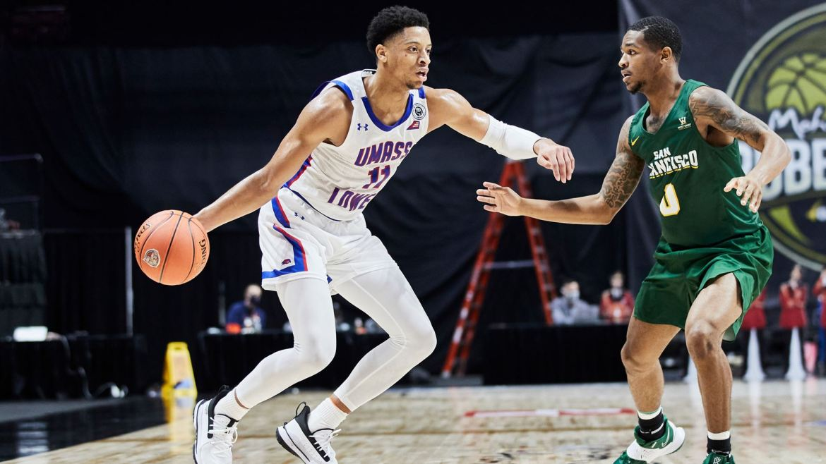 River Hawks Defeat San Francisco, 76-68, in Season Opener